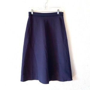 Tory Sport Navy Tech Knit Midi Skirt